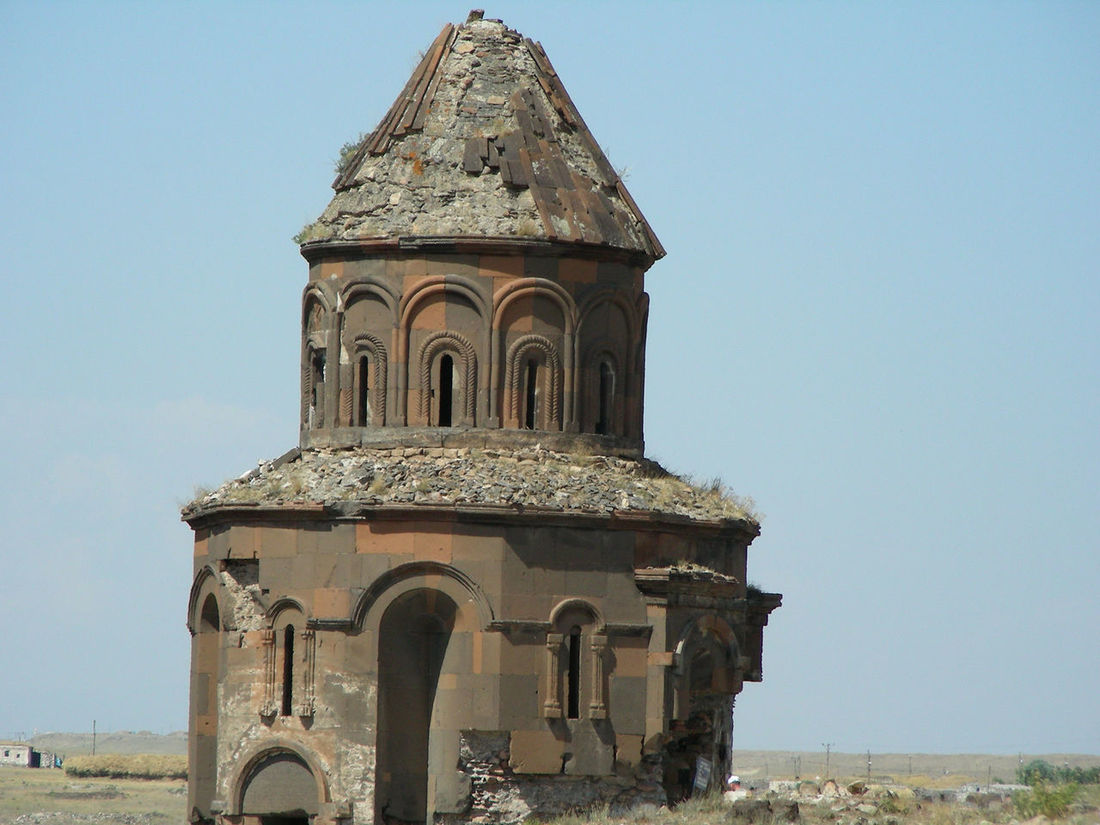 The Church of St. Gregory, Ani ,Turkey Architecture Armenian Armenian Church Building Exterior Built Structure Church Clear Sky Day Kars Leaning Low Angle View No People Outdoors Sky Tourist Attraction  Tourist Destination Travel Destinations Travel Photography Turkey Turkeyphotooftheday