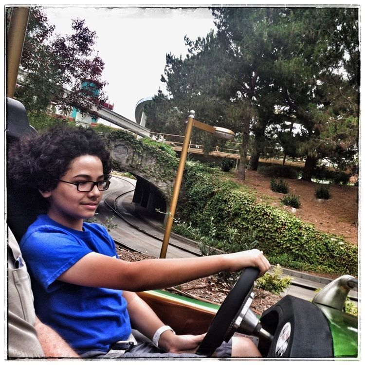 In one year he will be driving a real car. Disneyland California Autopia Photography Project 365 My Son