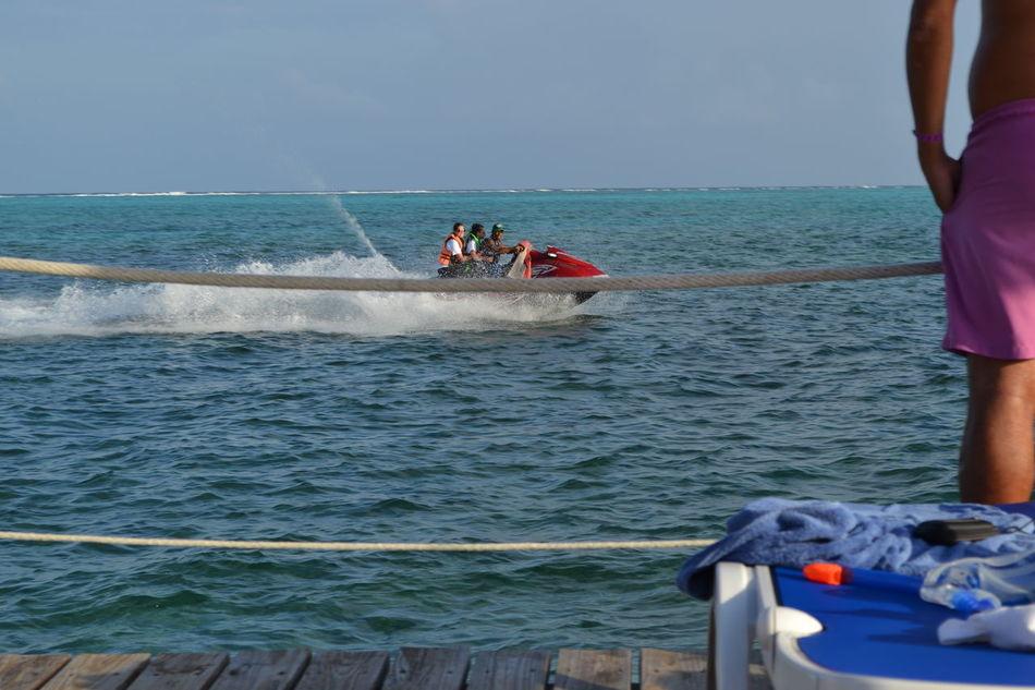 Adult Adults Only Adventure Astrology Sign Day Horizon Over Water Jet Boat Jetski Jetskiing Jetsky Life Jacket Motion Nautical Vessel Outdoors People Sea Teamwork Togetherness Transportation Young Adult