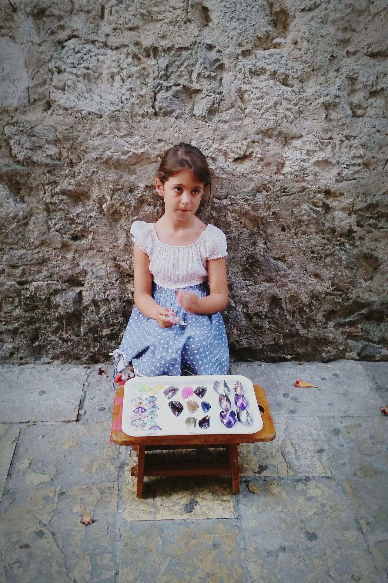 Kotor Starigrad Montenegro Girl Handmade Seller Souvenir