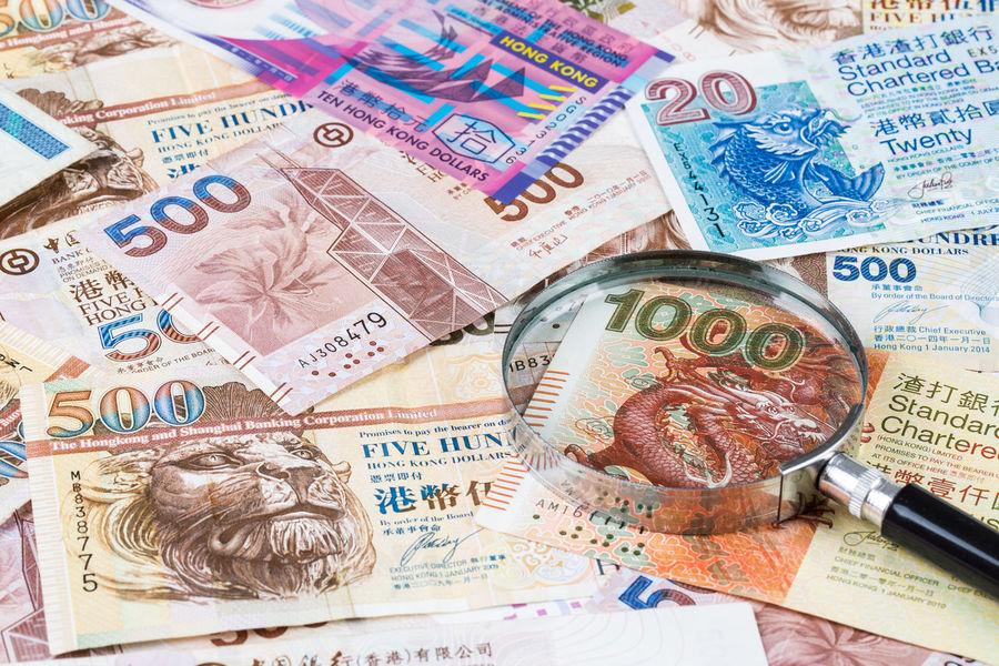 Stack of Hong Kong Dollar or banknotes with magnifying glass Art ASIA Bank Banknote Bills Cash Close-up Creativity Culture Debt Design Dollar Economy Hong Kong Information Market Money No People Payment Reward Rich Salary Shopping Spend Still Life