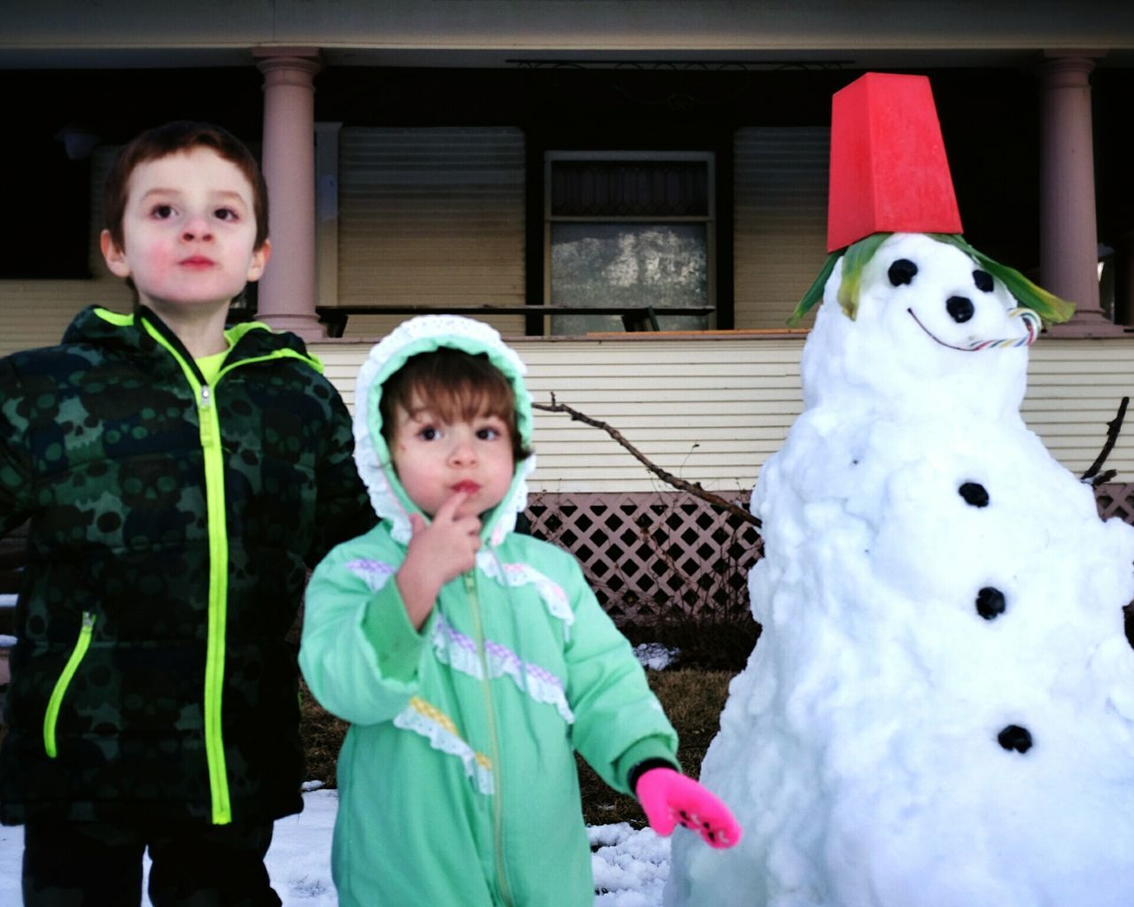 What should we name him? Snowman Kids Being Kids Enjoying Life Havingfun A Day In The Life Snow Today's Hot Look Hello World