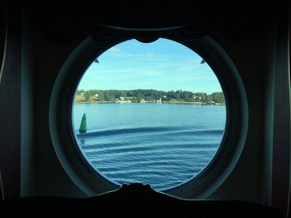 Window- view Ship Morning Window View On The Ship Ships