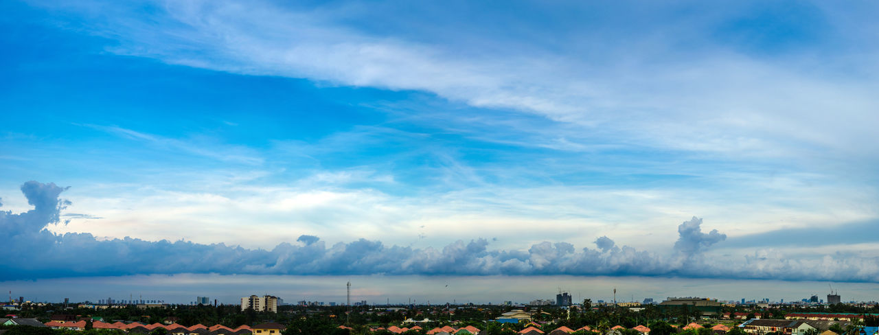 Architecture Beauty In Nature Blue Building Exterior Built Structure City Cityscape Cloud - Sky Day Nature No People Outdoors Panoramic View Scenics Sky Sky Scape Thailand Photos Tree