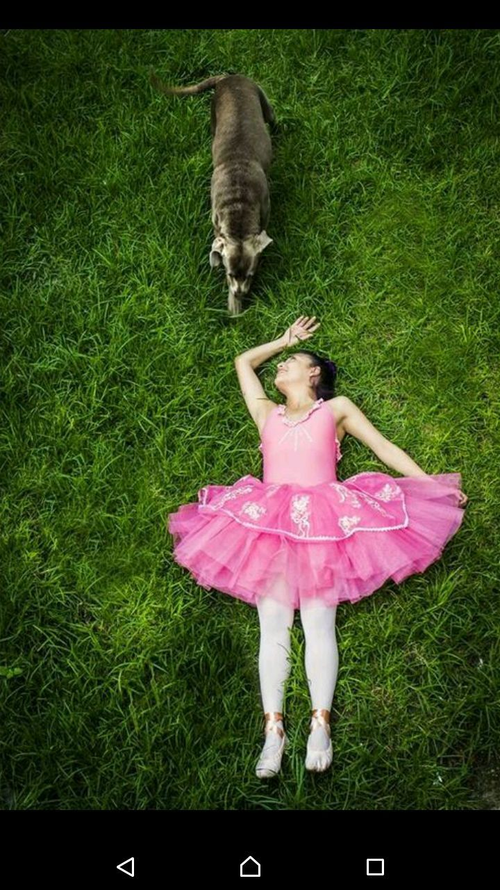 grass, full length, childhood, one person, pink color, children only, high angle view, front view, day, leisure activity, outdoors, one girl only, standing, elementary age, cute, people, child, girls, ballet dancer, adult