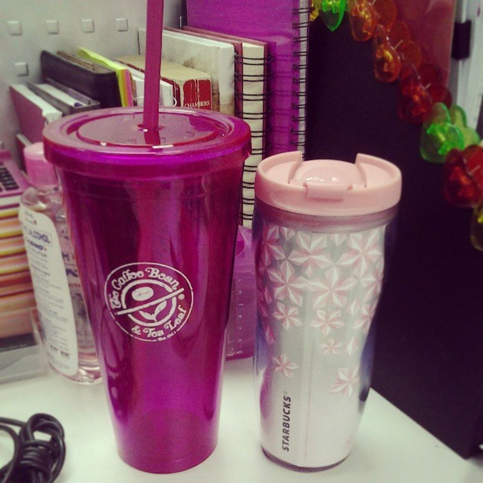 Dont they look good together? Starbucks CBTL Pink Tumbler projectpink