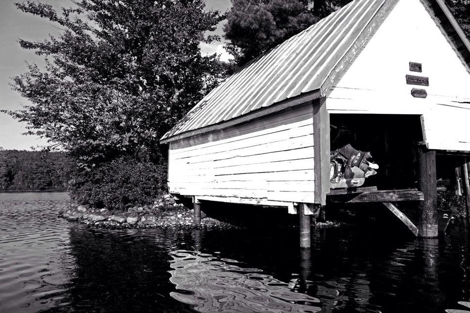 Photography Light And Shadow Amaturephotography Explore Blackandwhite Canon Sl1 B&w New York EyeEm Best Shots ADK Boat House Boathouse Boats Water Lakes  Lake