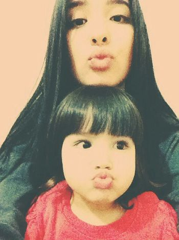 Black Hair Sister That's Me Faces Of EyeEm Kiss Goodmorning Cute Baby