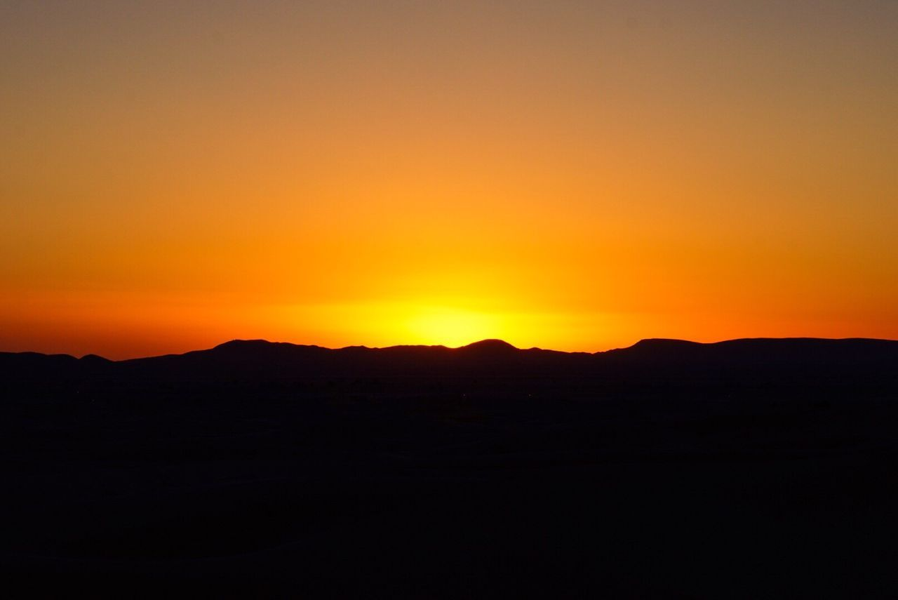 Sunset in Sahara.