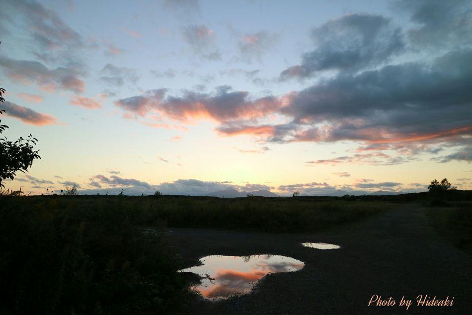 夕焼け 夕暮れ 夕焼け雲 水溜まり 写り込み Clouds And Sky Reflection
