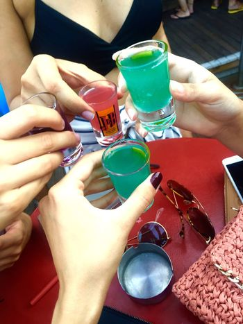 Human Hand Drink Table High Angle View Holding Food And Drink Drinking Glass Wineglass Refreshment Alcohol Human Body Part Day Close-up People Young Summer Beach