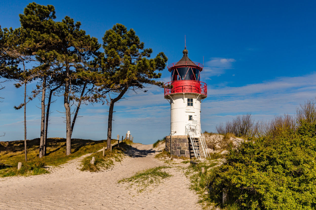 Beachphotography Beacon Blue Sky Dunes Lighthouse No People Outdoors Summer