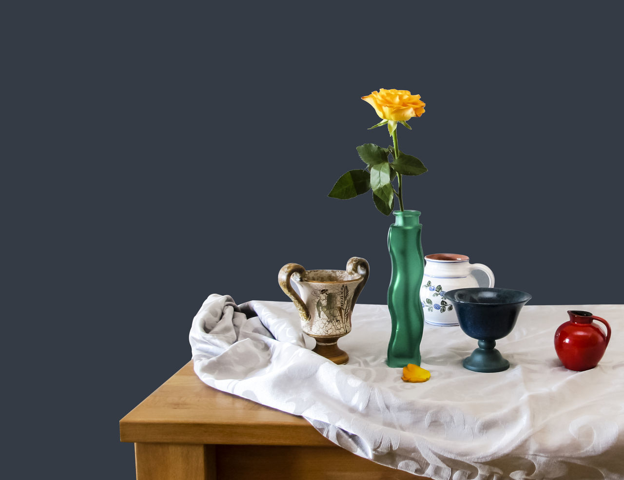 Close-up Composition Cultures Decoration Elégance Flower Freshness Glass Home Interior IKEA Indoors  Motif  Fine Art photography Roseflower Rose🌹 Single Object Still Still Life Studio Shot Table Variation Vase Vase Vases Wall