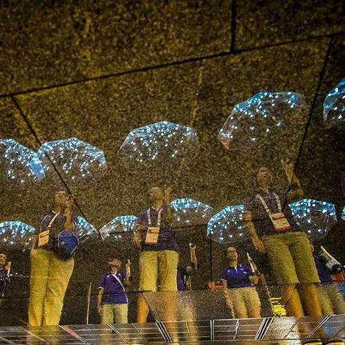 Teamnila Apg2015 Aseanparagames2015 Sportvolunteersg Marinabaysands Reflection Water Rain Umbrella Bulb