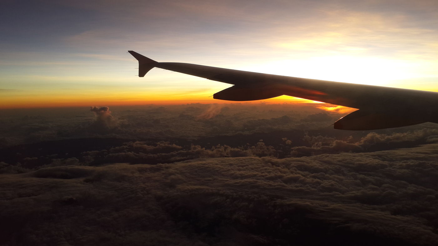 From An Airplane Window Working Avianca BOG-SAL