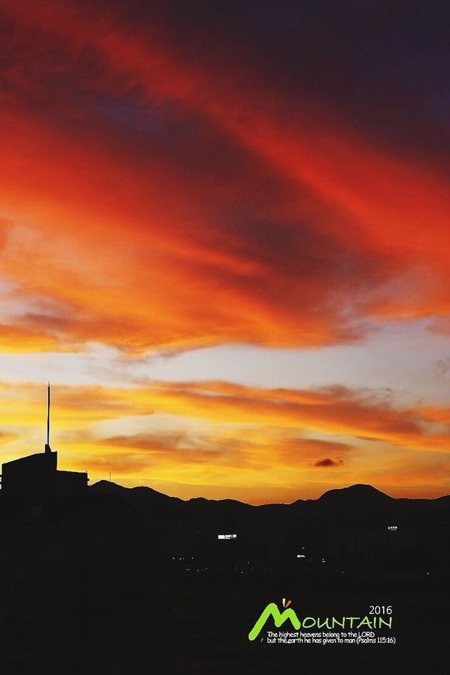 Sunset Silhouette Orange Color Cloud Sky Scenics Cloud - Sky Tranquil Scene Tranquility Outdoors Dark Dramatic Sky Nature Beauty In Nature Atmospheric Mood Vibrant Color Majestic Cloudscape Mountain Moody Sky