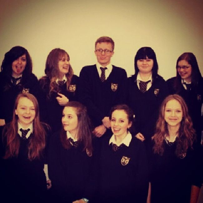 Love this photo; even though we're all doing different things! Sorry that if it's cropped some people out :/