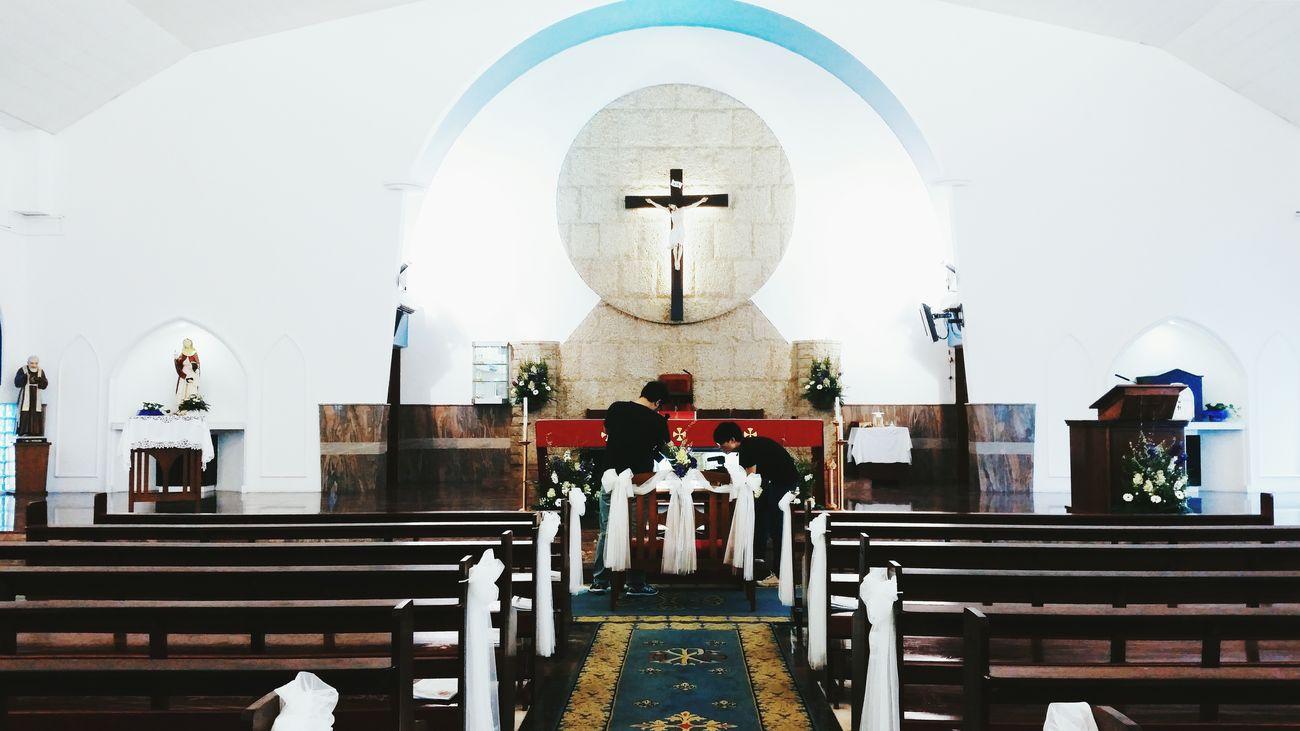 Wedding filming in progress Church Singapore Interior Design