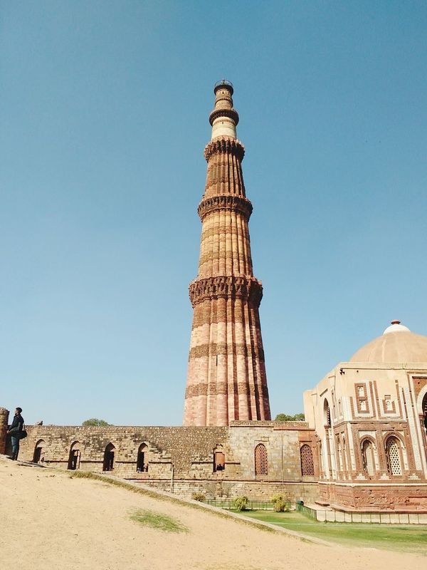 Monument History Travel Destinations Travel Tourism Clear Sky Tower Architecture Qutab Minar Indian Culture  Be. Ready. EyeEmNewHere
