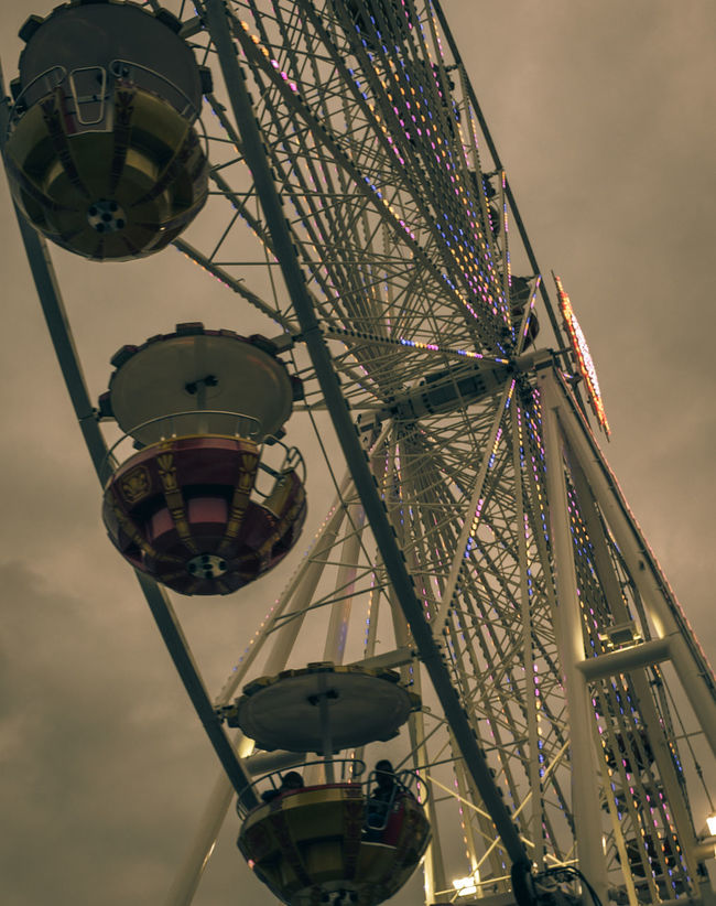 Just one more ferris wheel Dusk Dusk In The City Ferris Wheel Ferris Wheels Ferrishwheel Ferriswheel Ferriswheelinthecity🎡🎢 Ferriswheellove Ferriswheel🎡 Low Angle View Fine Art Photography