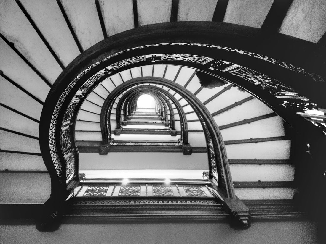 Steps And Staircases Staircase Railing Steps Built Structure Architecture  Spiral Indoors Stairs Day Spiral Staircase No