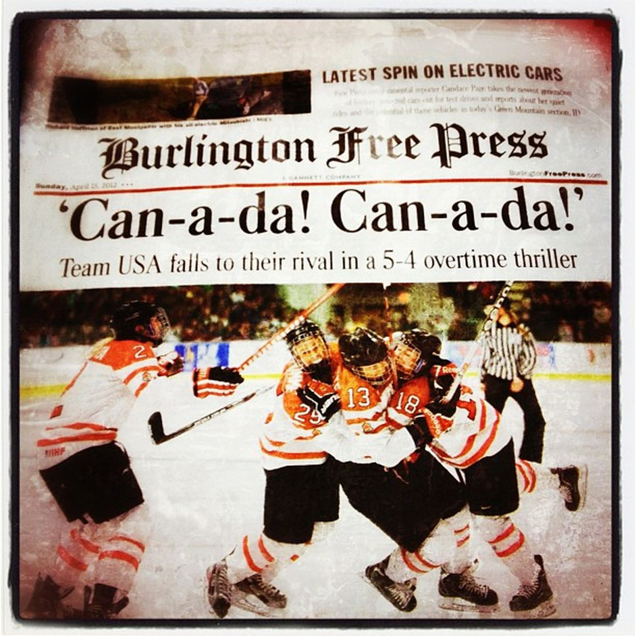 Great job girls! Congratulations #Canada! 802 Freepress Hockey Bfp_news Champions Gannett News Burlingtonfreepress University Bfp Canada Womens_hockey Win Patrick_gym Vermont Trophy Newspaper Worldcup Championship Vt Btv Uvm