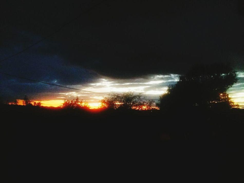 Late Summer Rainy Sunset Slavonski Brod