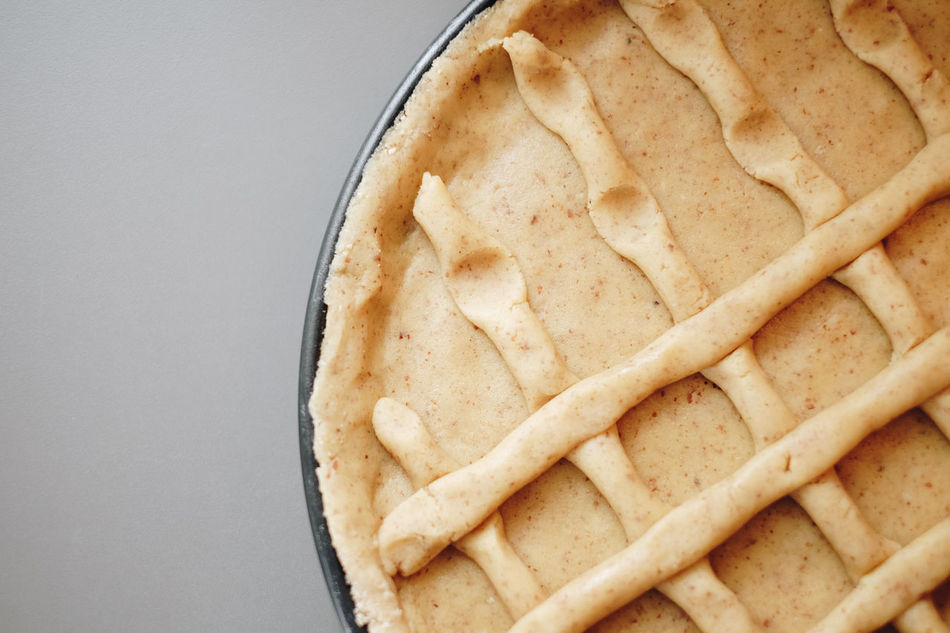 Apple Pie Baking Pan Close-up Day Dessert Directly Above Food Food And Drink Freshness Homemade Indoors  Indulgence No People Ready-to-eat Still Life Sweet Food Sweet Pie Temptation Unhealthy Eating White Background