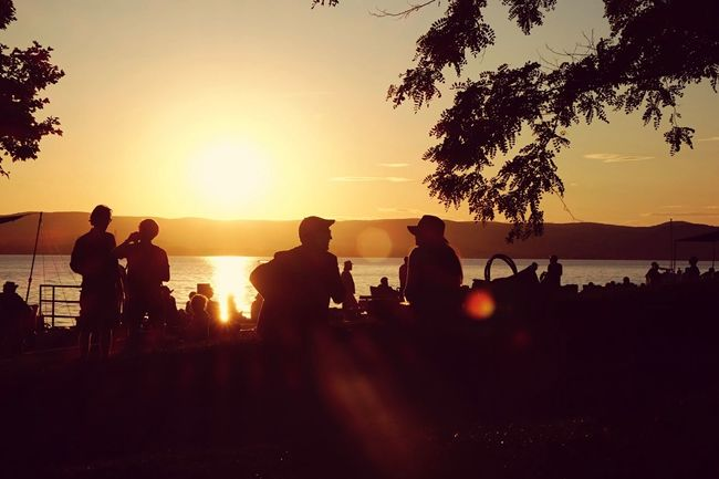 Reminiscing about the warm summer days. Open Edit Memories Sunset Friends