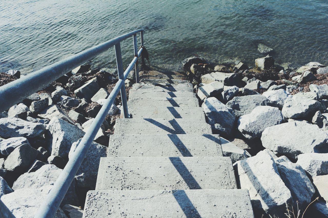 Steps Railing Lake Water Sea Ocean Boardwalk Summer Friends