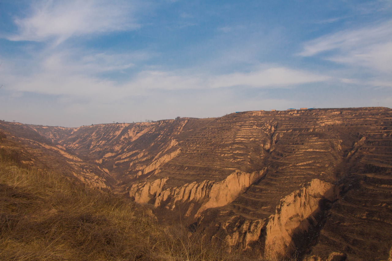 Desert Loess Plateau Mountain