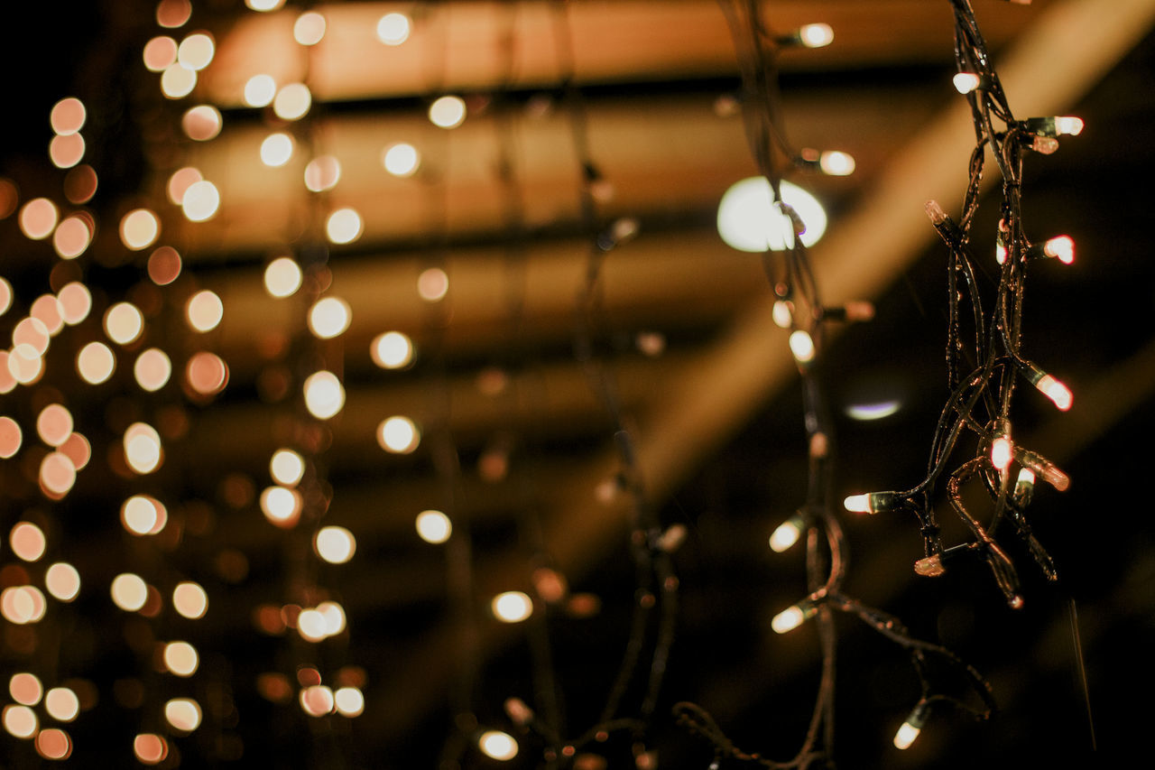 Lights Christmas Lights Close-up Focus On Foreground Hanging Illuminated Indoors  Lighting Equipment Nature No People