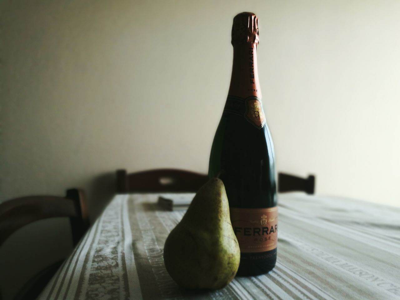 bottle, indoors, table, food and drink, no people, close-up, day