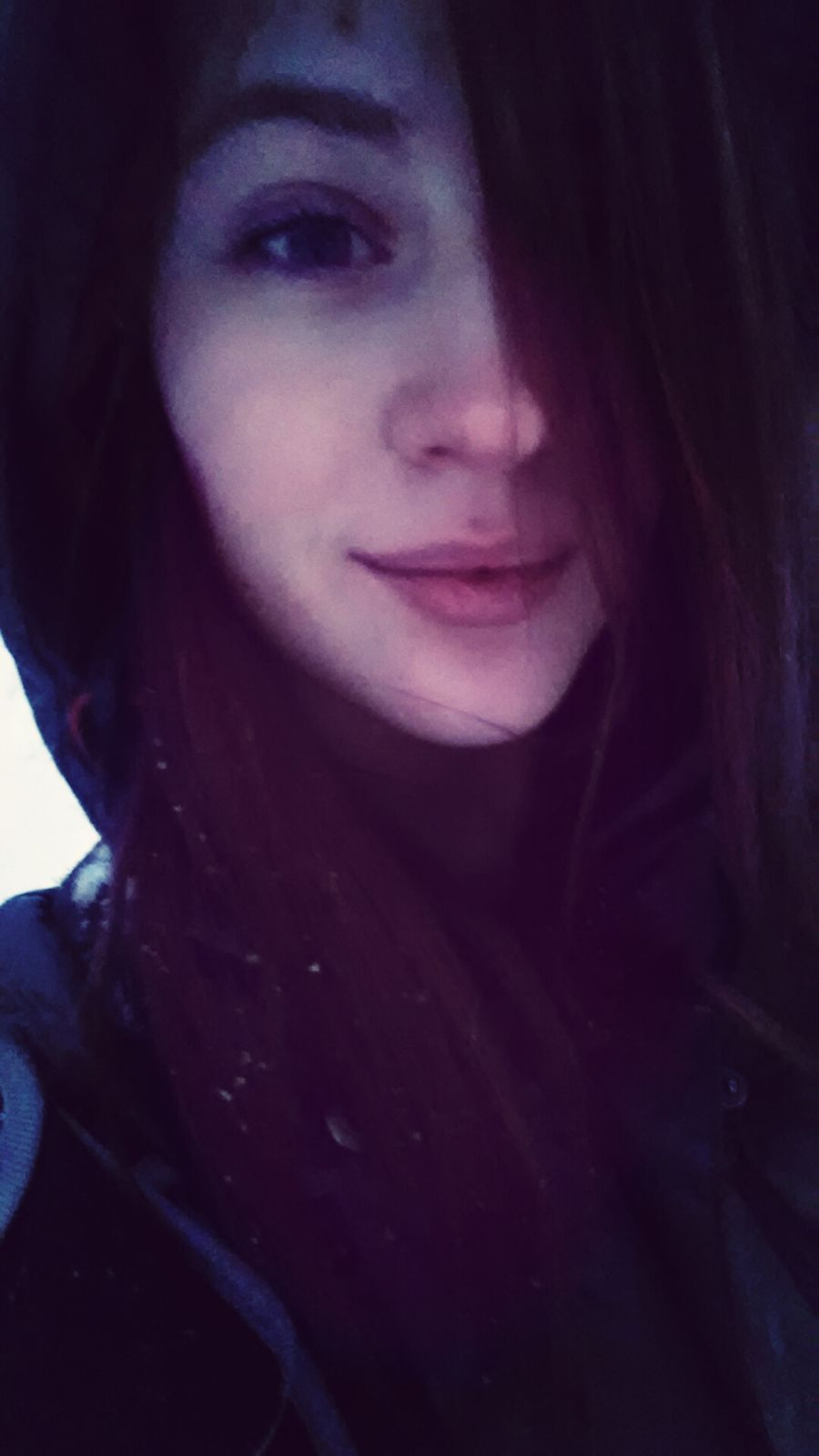 Winter Girl Selfie Cute