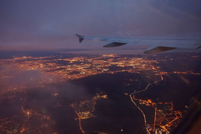 Paris Aroundparis Byplane Early Morning Showcase: February City Lights Ligths Traveling Sky And Clouds