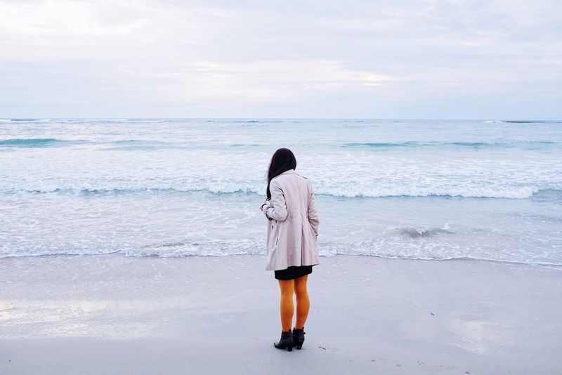 VSCO FujiX100T Vscocam Seascape Autumn Landscape Minimal Landscape_Collection Outdoors Landscape_photography Picturing Individuality Beach Photography Beachphotography Beach Landscapes Sea And Sky Sea Minimalist Woman White Color White Seaside The Portraitist - 2016 EyeEm Awards TCPM Place Of Heart Breathing Space