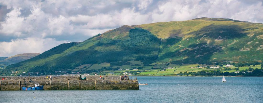 Carlingford Lough Mountain Water Waterfront Tranquil Scene Nautical Vessel Transportation Scenics Tranquility Mountain Range Sea Cloud - Sky Sky Boat Cloud Non-urban Scene Beauty In Nature Idyllic Nature Mode Of Transport Travel Destinations Ireland🍀 Ireland Carlingford Summer