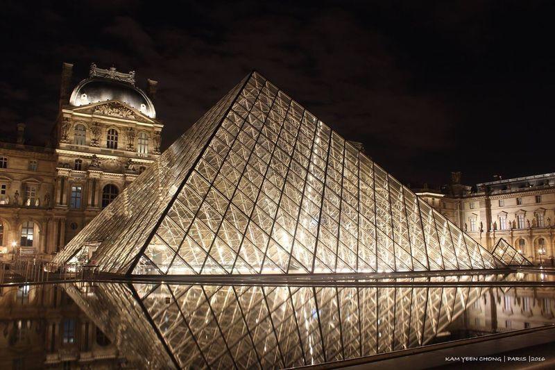Musée du Louvre Night Architecture Built Structure City Travel Destinations Outdoors Light Effect Tourism Paris