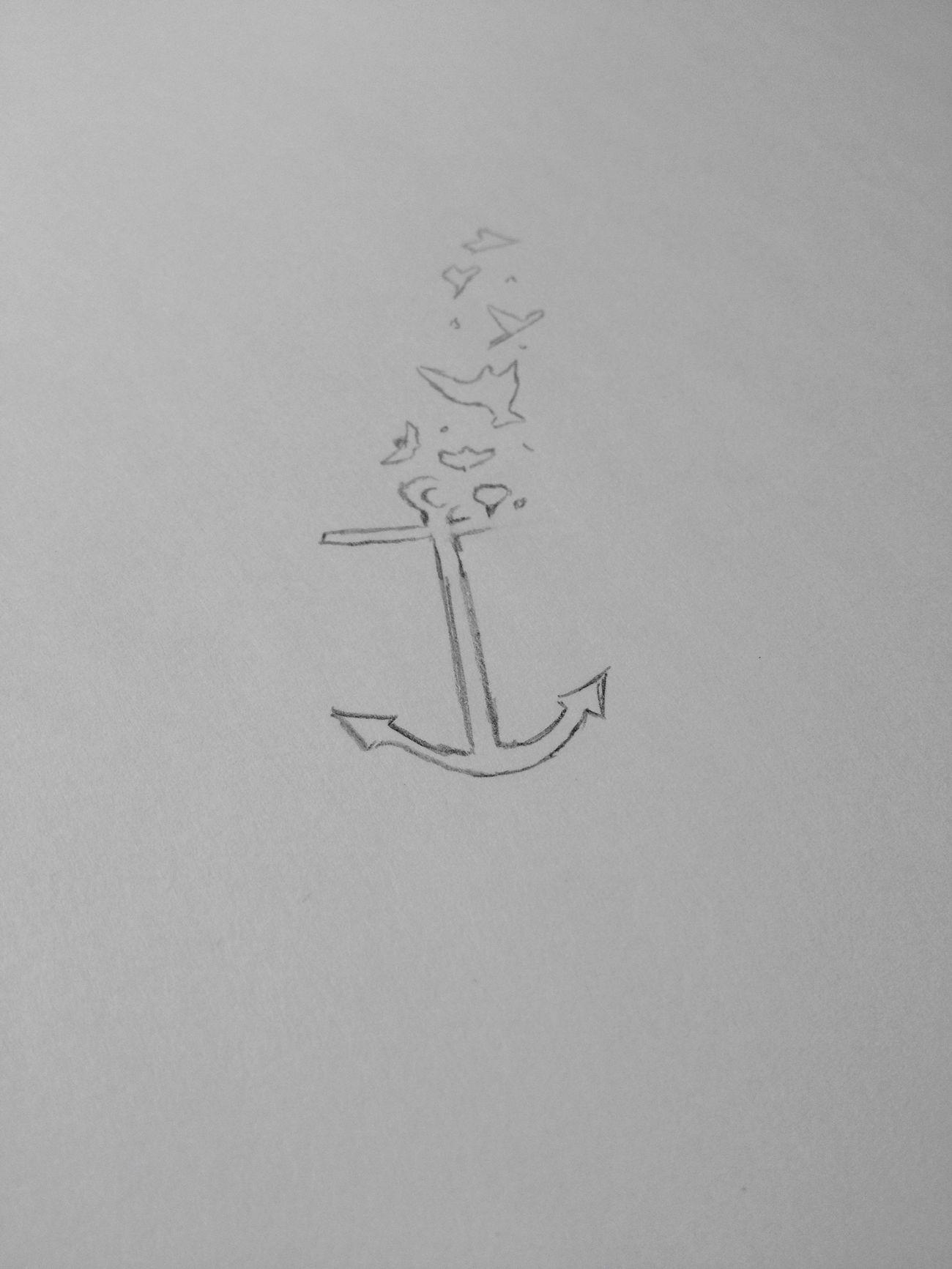 Premier dessin de mon futur tatouage, vous en pensez quoi ? Tattoo Tattoomodels Ancre Marine