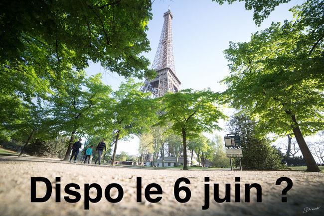Hello à tous, vous faites quoi le 6 juin? Si vous voulez on peut se retrouver à 14h30 sur le champs de mars pour le Eyeem Adventure de Paris. The Global EyeEm Adventure The Global Eyeem Adventure Paris Laissez moi un commentaire et j'organiserai l'événement avec l'aide d'Eyeem en espérant qu'on soit nombreux ;-) EEA3-Paris