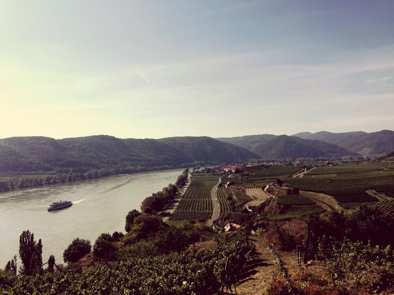 Mountain Scenics Landscape Tree Tranquil Scene Beauty In Nature Tranquility High Angle View Water Mountain Range Non-urban Scene Sky Nature Cloud - Sky Day Remote Tourism Outdoors Curve Vacations Autumn🍁🍁🍁 Wachau Donau