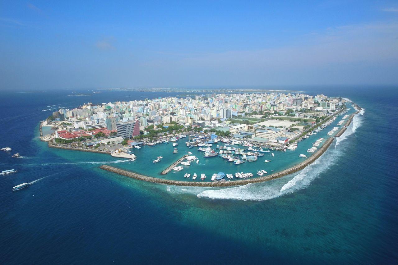 Male' City, Maldives Drone  Maldives Island Sea Sunshine Aerial