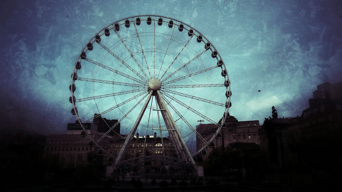 The Wheel of Manchester Ferris Wheel Manchester Piccadilly Gardens Street Photography