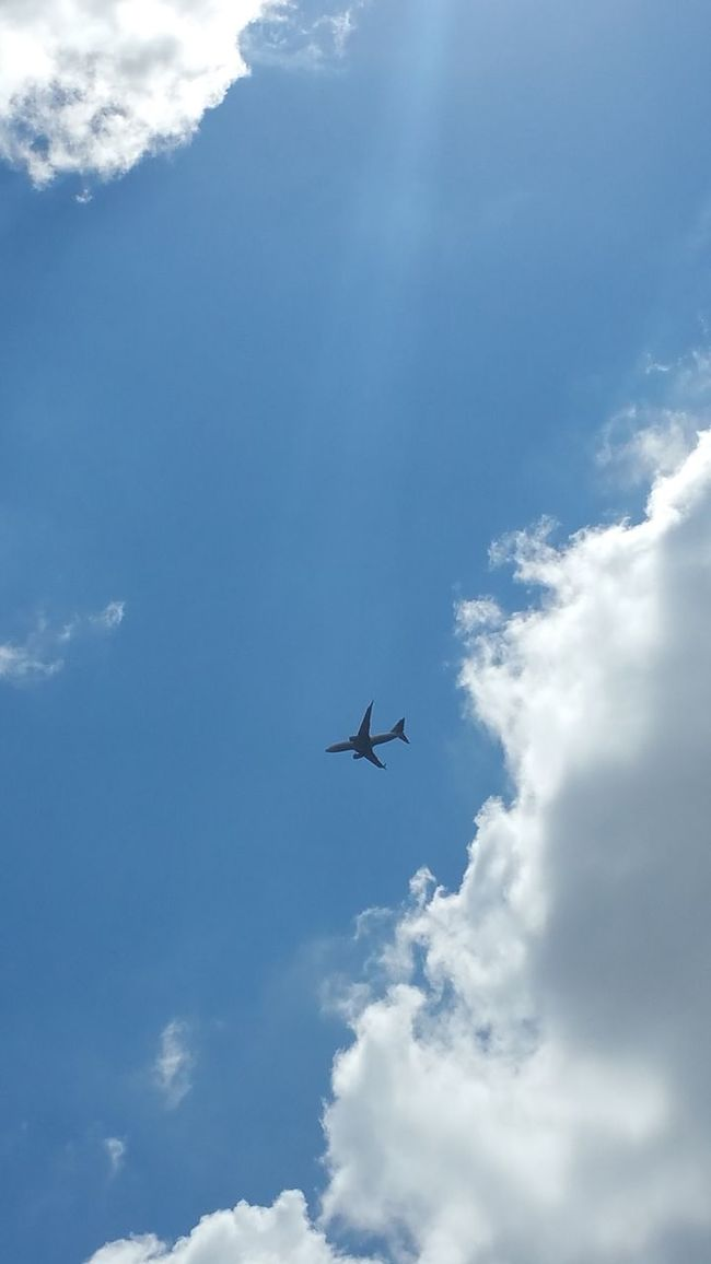 Skywithaplane Planes Blue Sky Clouds Clouds And Sky Lookingup Minimal