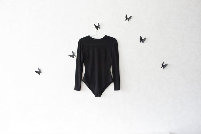 Body & Fitness Butterflies Butterflies On The Wall Clothes Creativity Fashion Fashion And Style Hanging Style White And Black White Wall