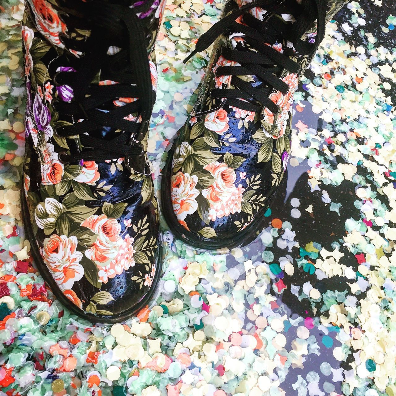 Multi Colored Close-up Shoeselfie Basler Fasnacht Rainy Days Hide And Seek Outdoors EyEmNewHere