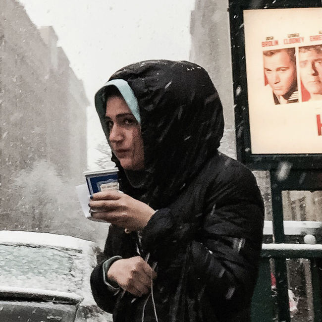 #winter2016 #people #uws #Manhattan #nyc #streetphotography #cold #snow #watching #people #timyoungiphoneography