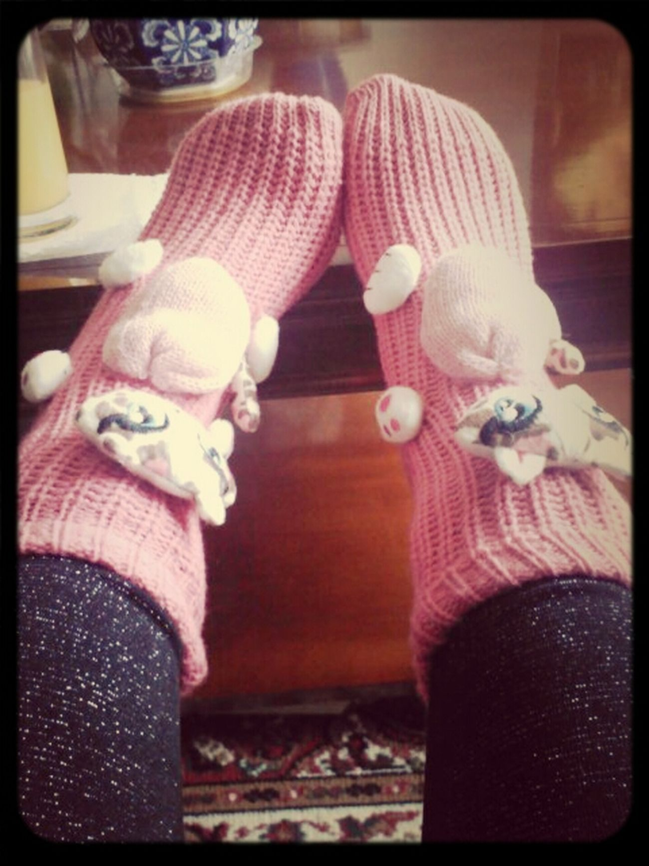 cozy socks.. #like #pink #kitty #kat