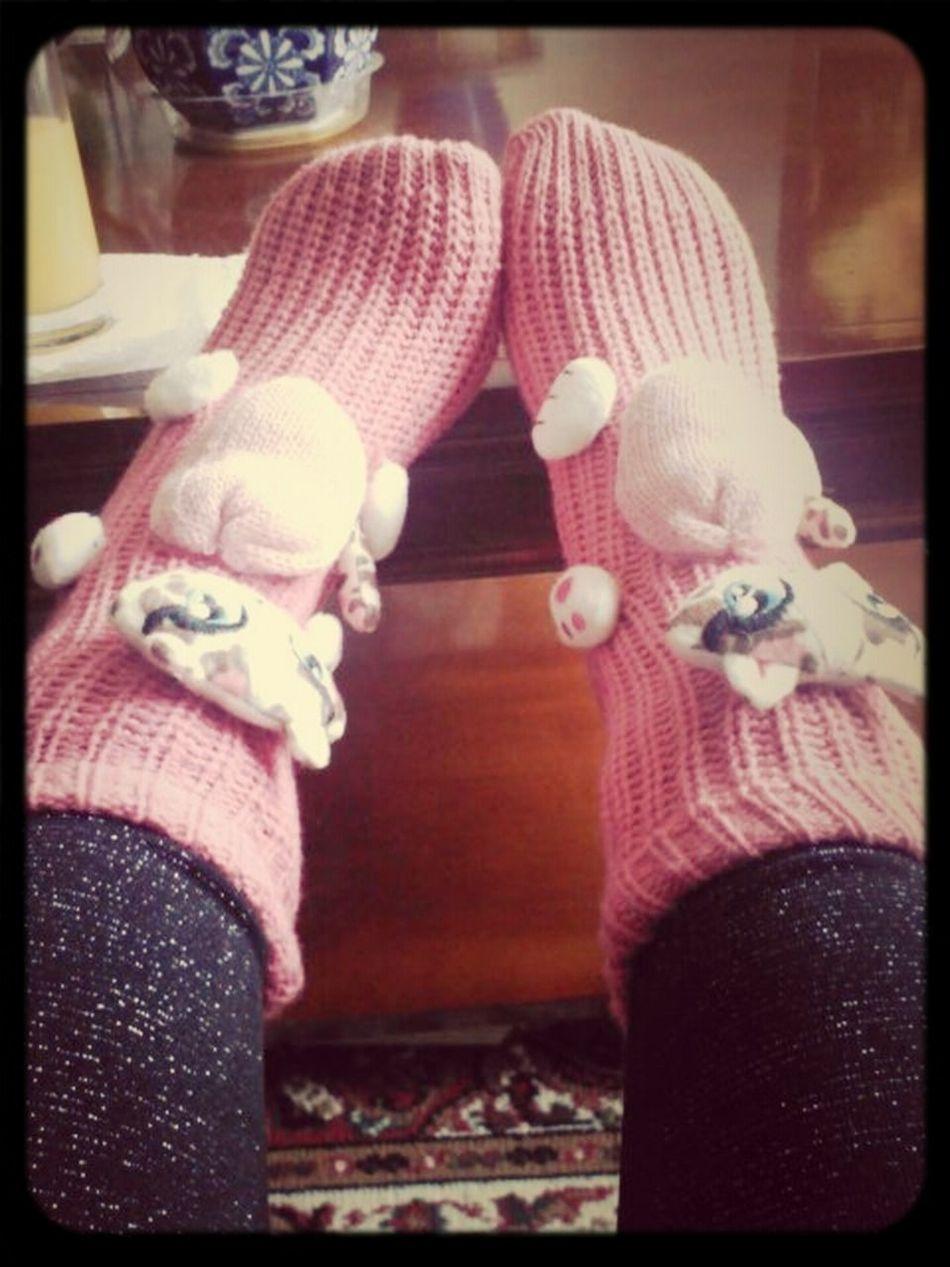 cozy socks.. #like #pink #kitty #kat