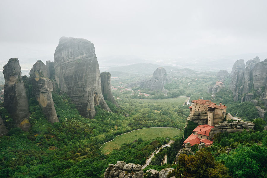 Beauty In Nature Day EyeEmNewHere Greece Landscape Meteora Mountain Natura Nature Nature Beauty Outdoors Physical Geography Scenics Sky Sunset Travel Destinations